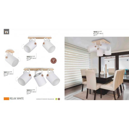 Спот TK Lighting 1612 RELAX WHITE фото 2